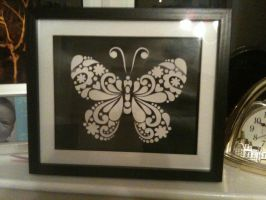 Butterfly papercut by ladysilver2267