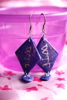 WTF earrings by Pinkatron2000