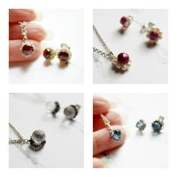Post earrings and charm pendant SETs by CrysallisCreations