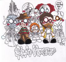 Chibi Horror People by superminisai