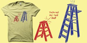 Step ladder t-shirt by biotwist