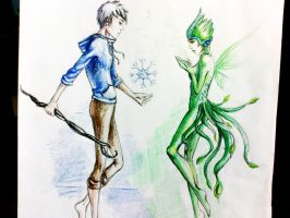 Jack Frost and Tooth Fairy by AllyEdFrown