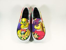 studio ghibli lover , hand painted on canvas shoes by Annatarhouse