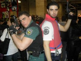 Chris and Barry by Chris--Redfield