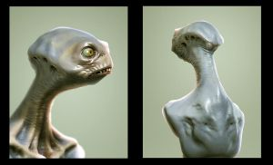 Creature Bust by DocosArt
