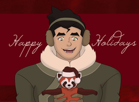 Happy Holidays from Bolin and Pabu by ButterflyMelodyFox