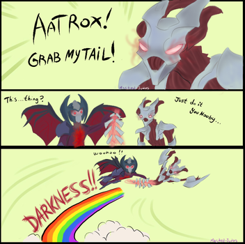 Aatrox! Grab my Tail! -Legue of Legends- by Masked-Judas