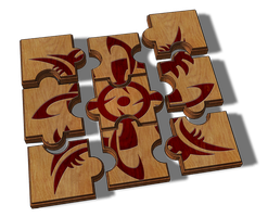 Jigsaw Tribal Design by B-Rox-U