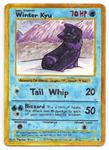 Handmade Pokemon Card: Winter Kyu by TsukiTsu