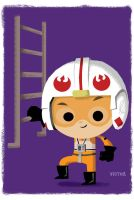 Luke X-Wing:Bubblehead by JeffVictor