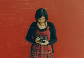 her very first day with holga by parabol-parabola
