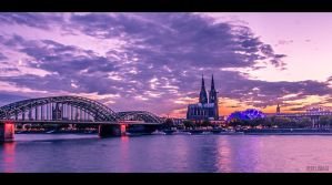 The beautiful sky over cologne by pixelimage