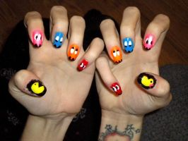 Mr and Mrs Pacman by garbledxmind