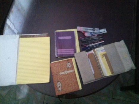 My writing materials (OLD) by Sticthergirl