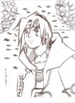 itachi scetch by theman1172017