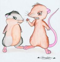 Rats vs Hamsters by GuardianKitsune
