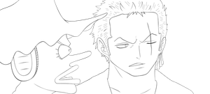 Zoro And Usopp 629 Lineart by lordbalda