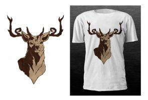 Antlers shirt by pocketm0use