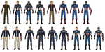 Captain America ( First Avenger / The Avengers / W by vandersonmetal