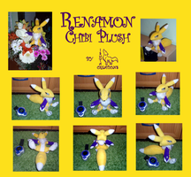 Renamon Plush Collage by Ishtar-Creations