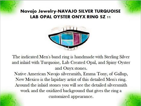 Navajo Jewelry-NAVAJO SILVER TURQUOISE LAB OPAL OY by mesaverde1
