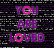 YOU ARE LOVED by thecr8tive1