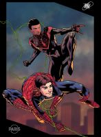 Spider-men collab by ParisAlleyne