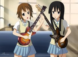 Yui and Mio - After School by xZDisturbedZx