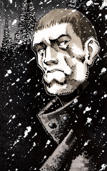 A Monk in Snow by dForrest