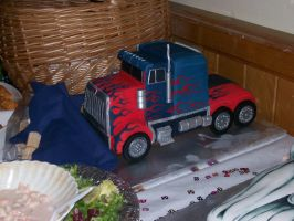 Optimus Prime Cake by Soul-Reader