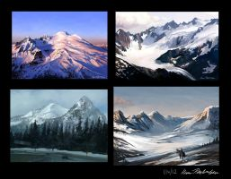 Mountain Studies by KatePfeilschiefter