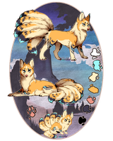 Golden Evening Kitsune// Auction//Closed by Belliko-art