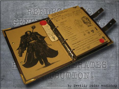 leather Notebook Inquisitor by Svetliy-Sudar