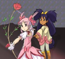 Madoka and Iris by Loveon