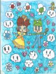 Daisy and Luigi:Love in the sky by PrincessDaisyRocks10