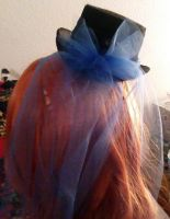 Mini tophat blue tulle(back) by Rainbowkitty-Designs