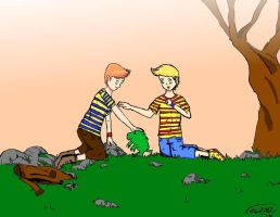 Lucas and Clause- Mother 3 by abc-roar