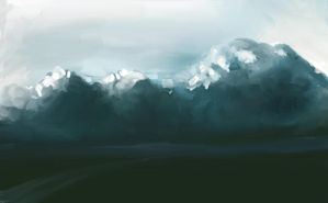 clouds landscape by cury