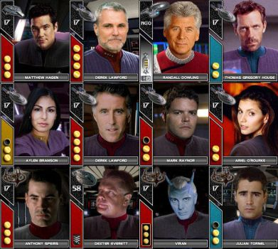 Trek Character Avatars by Slagatastic