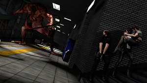 Resident Evil: Escaping from a unexpected problem. by mavgoddess
