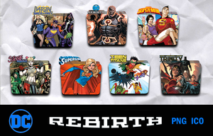 DC Rebirth Icon Pack v8 by piebytwo