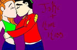 kim possible and jake long by roselong06