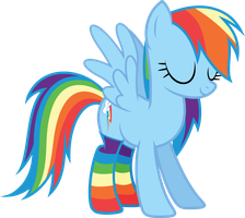 Rainbow Dash Socks vector by RainbowDash038