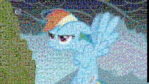 Rainbow Dash Mosaic by ph4nt