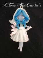 Snowflakes Spirit Polymer Clay by Nakihra