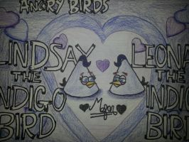 Angry Birds Love:Lindsay and Leonard[Indigo Birds] by MeganLovesAngryBirds