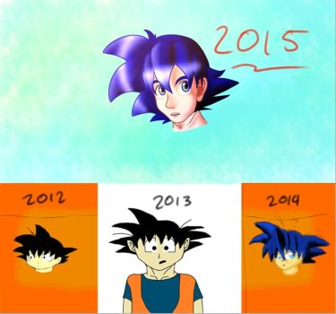 four years of improvement by ask-son-goku
