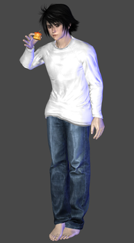 Death Note - L (Ryuzaki) Default Outfit DL by TheRaiderInside