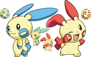 311 - Plusle and 312 - Minun by Tails19950