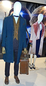 Newt Scamander and Queenie Goldstein costumes by Lynus-the-Porcupine